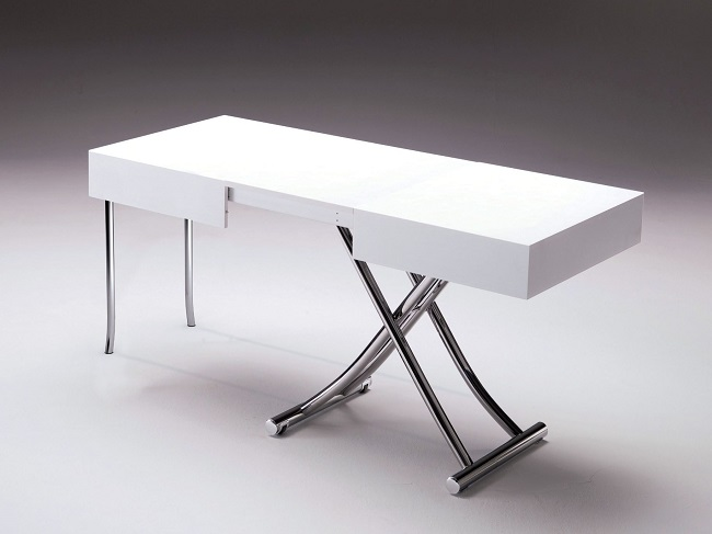 Great transformable living and dining room tables by ozzio - Table transformable up down ...